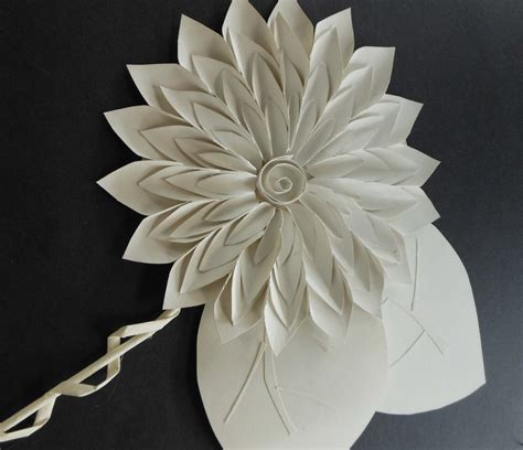 Paper Sculptures - negativespace white paper sculpture