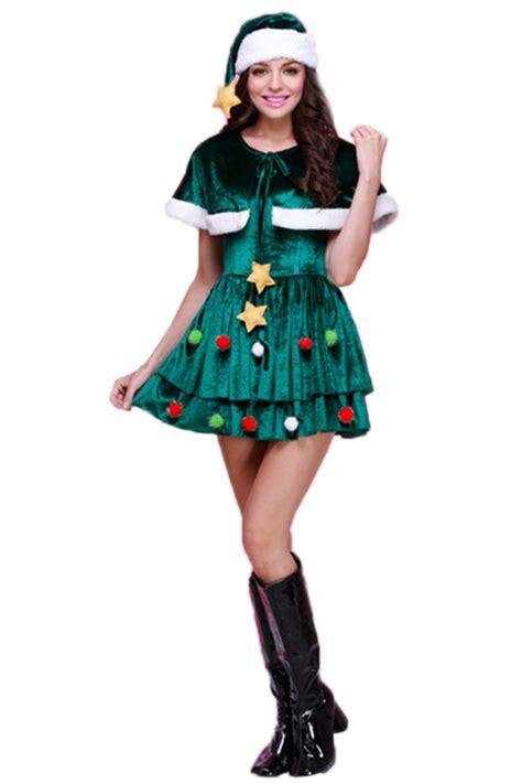 green sexy womens shawl elf christmas tree santa helper
