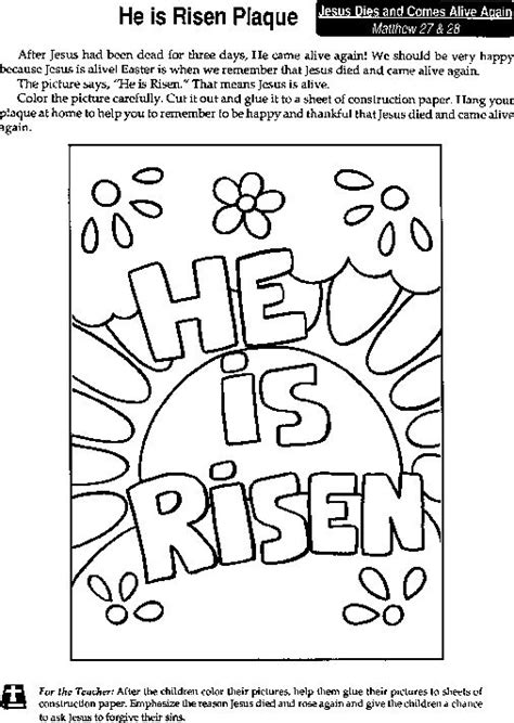 coloring pages jesus has risen quot he is risen quot coloring page he is risen