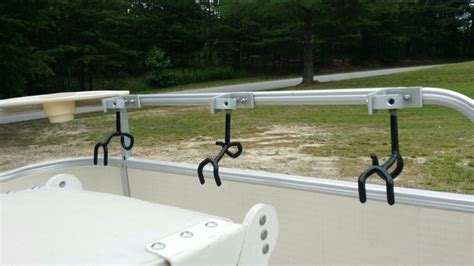 cl on rod holders for aluminum boats fishing rod racks for pontoon boats image of fishing