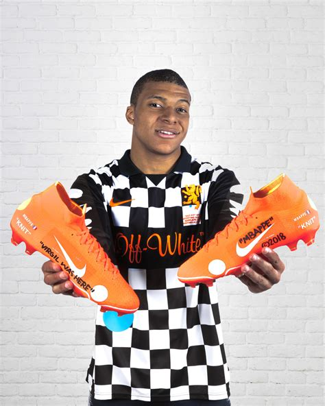 kylian mbappe off white kylian mbapp 233 unveils the limited edition nike mercurial