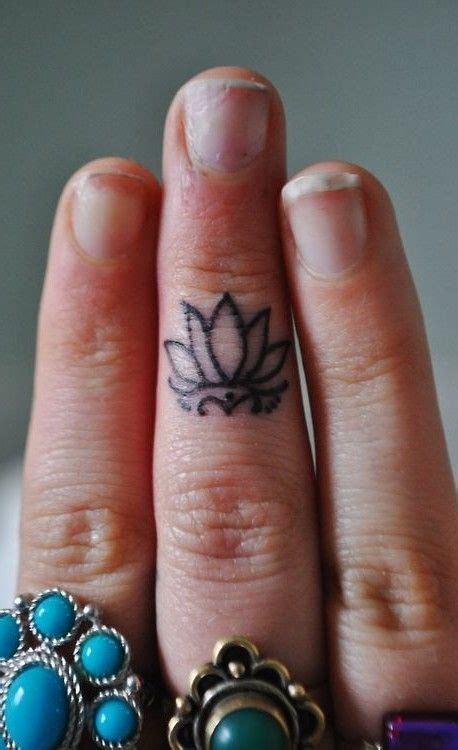 tattoo finger lotus alluring mini lotus on finger new tattoo ideas march 2017