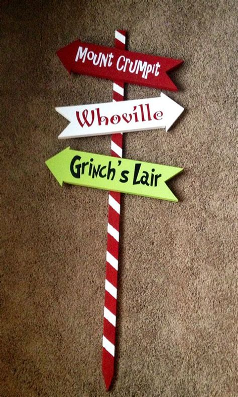 The Grinch Decorations For by Grinch Arrows By Woodlandaffair On Etsy 50 00