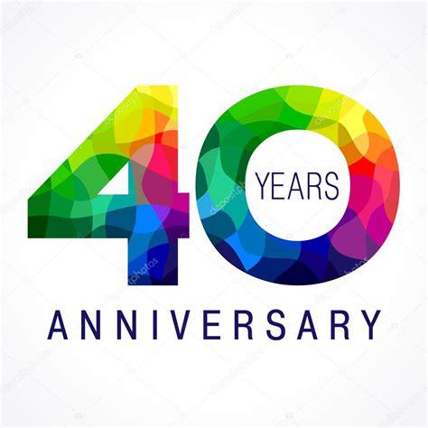 40th anniversary color 40 anniversary color logo stock vector 169 koltukov alek