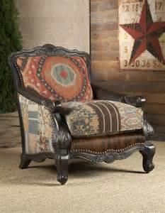 Rustic Living Room Chairs Southwestern Buckley Chair Chairs Ottomans Living Room Rustic Furniture Lakota Cove
