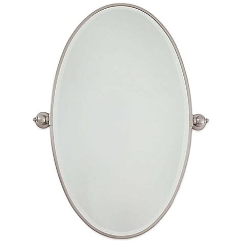 for sale brushed nickel standard oval pivoting bathroom buy minka lavery 174 21 5 inch x 36 inch oval pivoting mirror