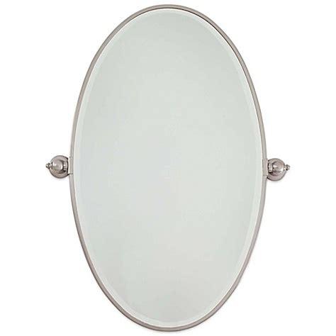 minka lavery brushed nickel extra large oval pivoting buy minka lavery 174 21 5 inch x 36 inch oval pivoting mirror