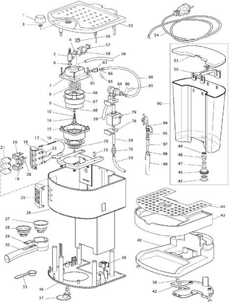 Delonghi Coffe Maker Eco310 W delonghi coffee spare parts newmotorwall org