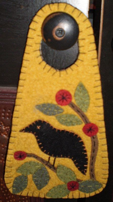 trees felt applique and the o jays on rug door hanger in the cherry tree instant
