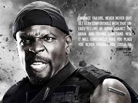 terry crews quotes quot embrace failure never never quit quot terry crews live by
