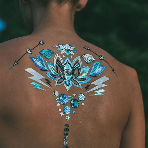 the blue tattoo turquoise tigerlily metallic glow in the