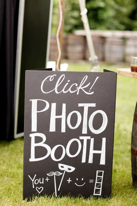 Handmade Photo Booth - handmade sign photo booth ideas