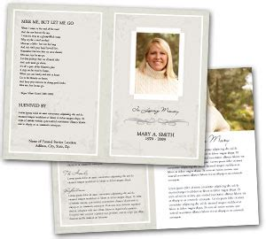 View our selection of one of kind obituary programs for the funeral