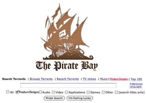 pirate bay product designs on pirate bay ponoko ponoko
