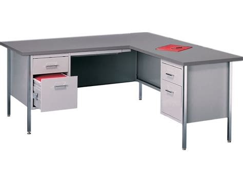 L Shaped Desk With Right Return Steel L Desk W Right Return Ecd 3066r Office Desks
