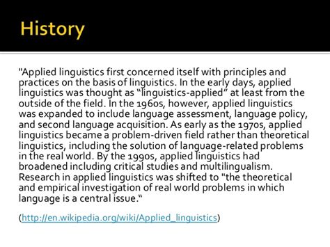 Applied Linguistics by A Taste Of Applied Linguistics
