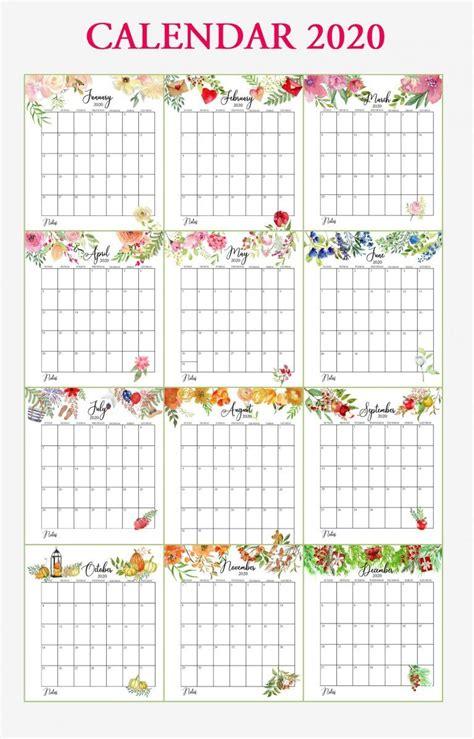 floral  calendar printable calendar printables  printable calendar templates