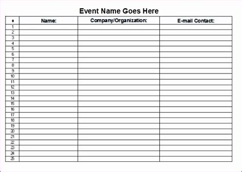 sign  sheet template excel excel templates excel