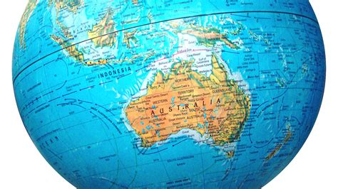 map of globe australia map globe