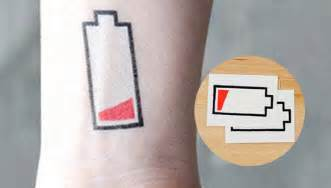 Tato Tatto Temporary Tatto Kecil Tatto Baterei Low 10 5x6 Cm X 205 tattoos