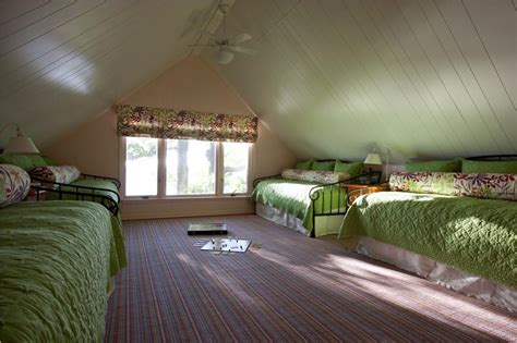 Cottage Master Bedroom Ideas children s bunk room making the most of attic rooms