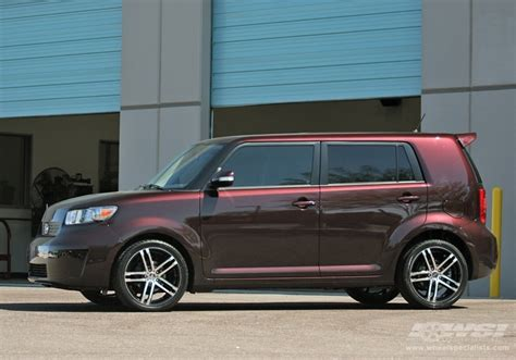 scion xb 18 wheels 2008 scion xb with 18 quot mkw closeouts m72 in black machined