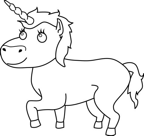 black and white coloring pages of unicorns colorable unicorn line art free clip art