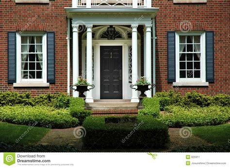 home entrance formal home entrance stock image image of brick house