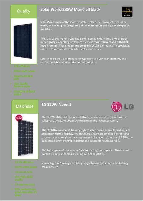 highest wattage solar panels 2017 gem solar pv and storage brochure 2017