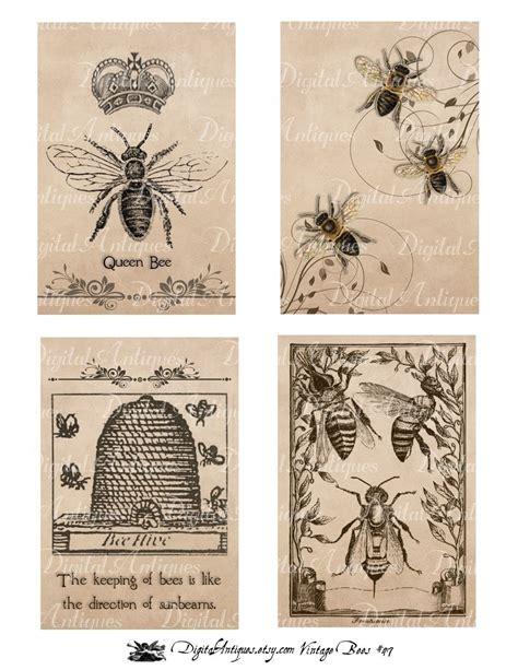 printable retro images vintage bees printable images digital download