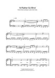 Etta james i d rather go blind sheet music onlinesheetmusic com