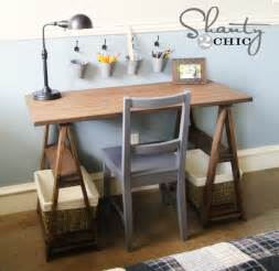 Desks Diy Restoration Hardware Diy Desk Shanty 2 Chic