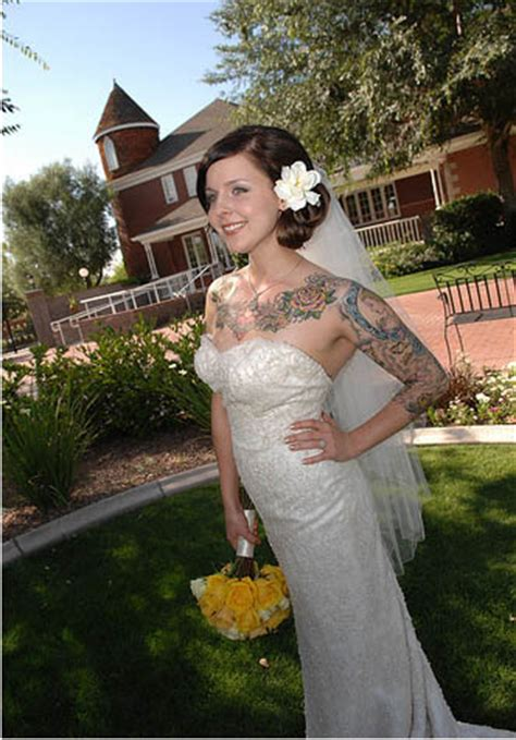 tattooed bride tattooed danielle 183 rock n roll
