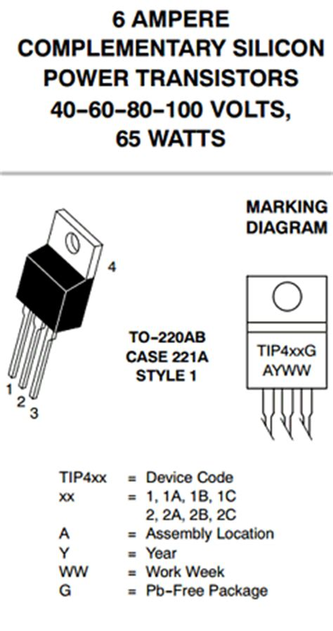 equivalente do transistor tip41c tip41 datasheet pdf on semiconductor