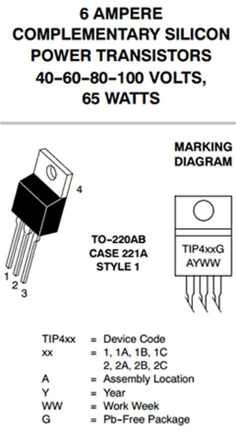 transistor tip41cg tip42cg on semiconductor datasheet pdf datasheetbank