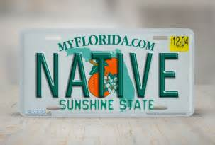 Zebra Vanity Airstrike 174 597 Quot Florida State Plate Native Quot License Plate