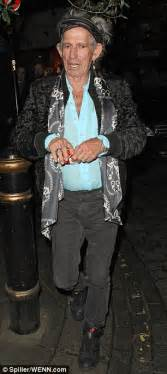 keith richards suffers from the middle aged spread as he