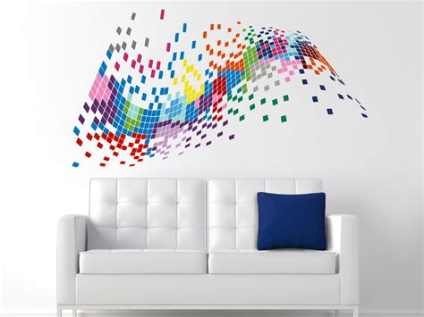colorful wall stickers pixel wall decals color decal colorful vinyl decal