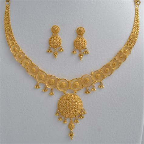 Set Bunga Golden the gallery for gt gold necklace for with price
