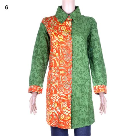 jual blus batik tunik kombinasi utari  batik cap