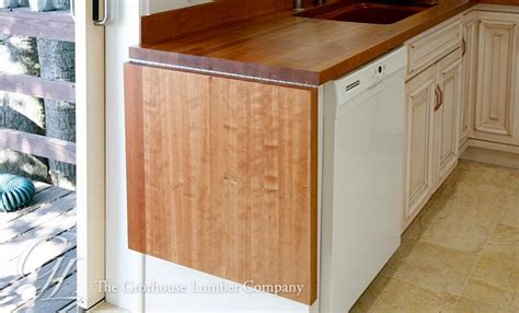 Drop Leaf Countertop american cherry wood countertop with drop leaf in oakland california