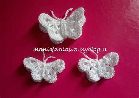 fiori uncinetto tridimensionali come fare farfalle uncinetto tridimensionali manifantasia