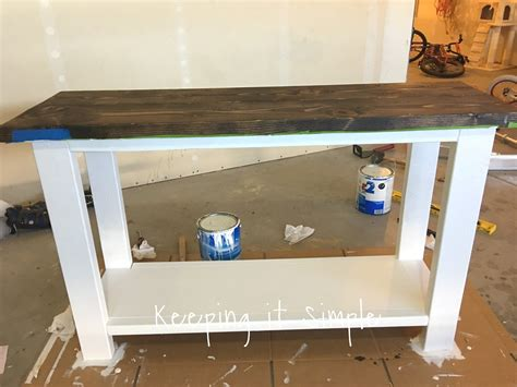 build a sofa table keeping it simple how to build a sofa table for only 30