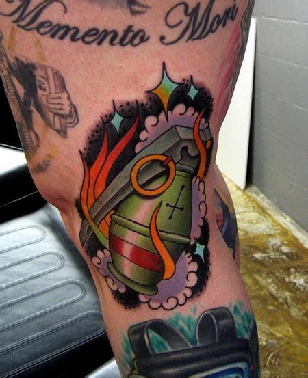 new school grenade tattoo grenade tattoo by jonathan montalvo tattoonow