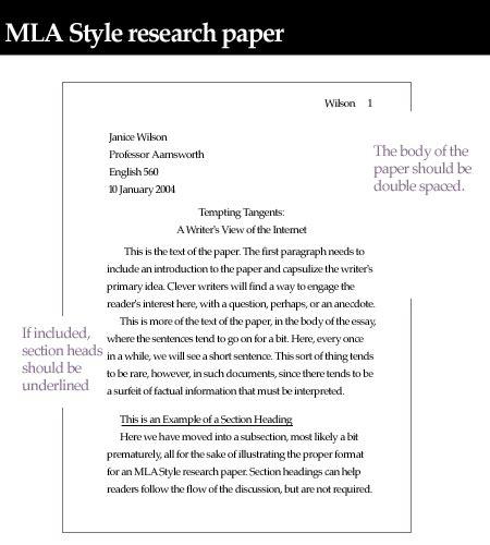 write  mla heading  essays correctly