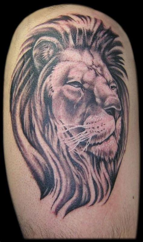 black and grey lion tattoos black and grey by aaron goolsby tattoos