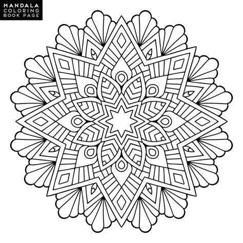 flower background coloring page outline mandala for coloring book decorative round