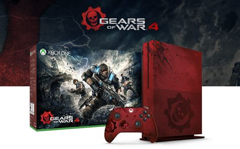 Xbox One S Gears Of War Edition gears of war 4 limited edition bundle xbox
