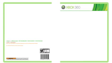 xbox 360 template box graphics media entertainment