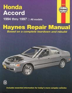 1997 venture all models service and repair manual tradebit 1994 1997 honda accord all models haynes repair manual